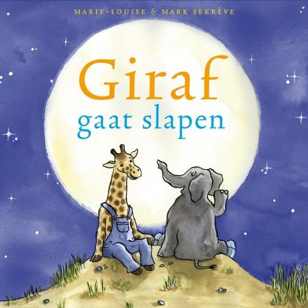 slapen gaan, giraf gaat slapen