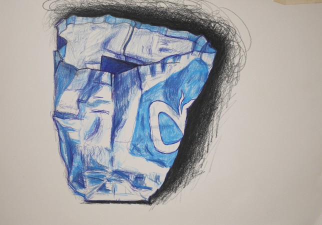 albert heijn tas tekening met kleurpotlood ah shopper shopping bag drawing