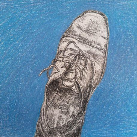 schoen tekening blue shoe