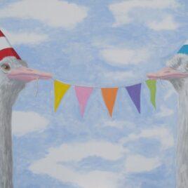 schilderij feest hoera een feestje!