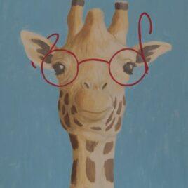 giraf schilderij, joris, figuratieve kunst