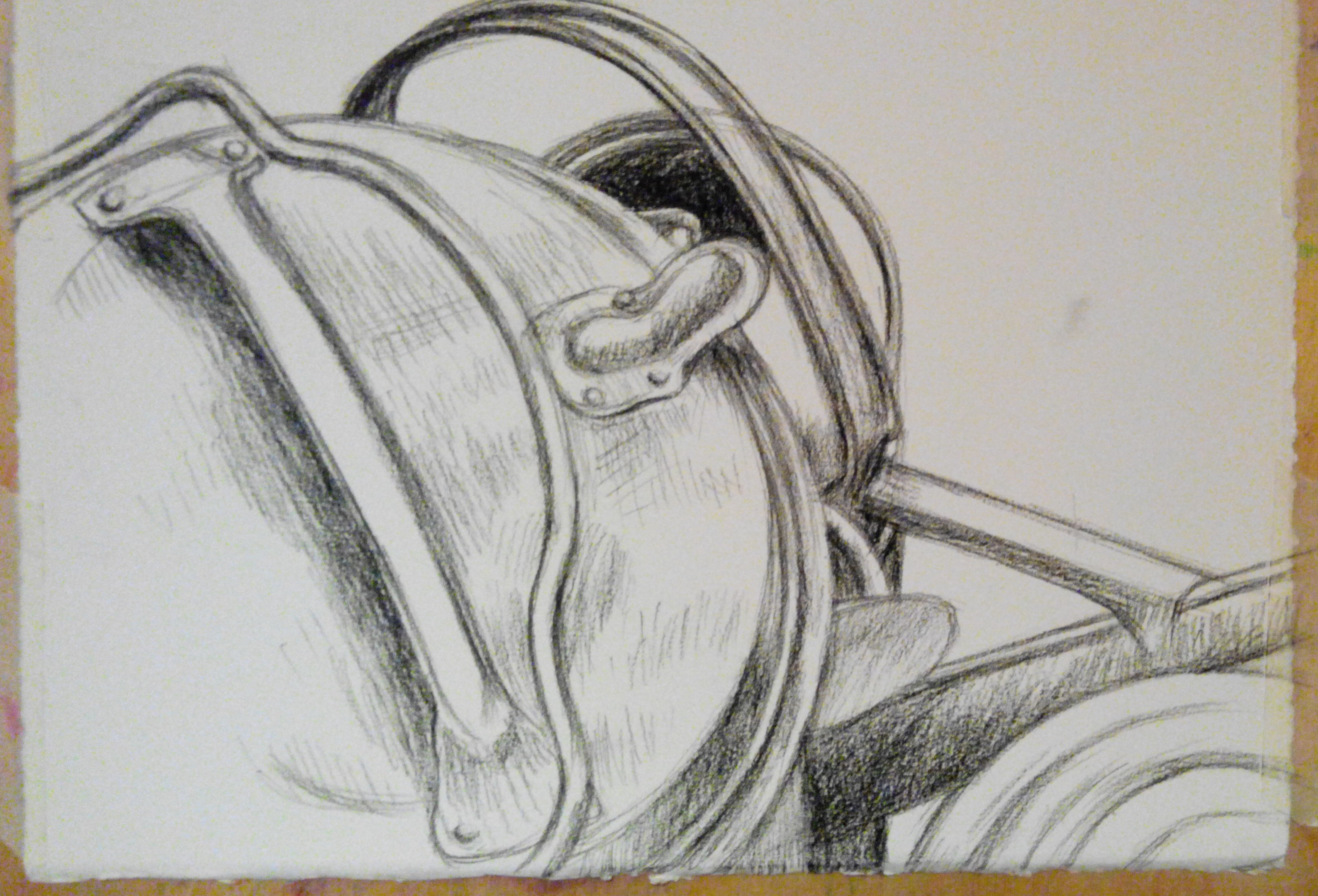 stillife in charcoal