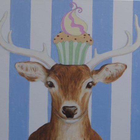 schilderij hert, sweet-deer