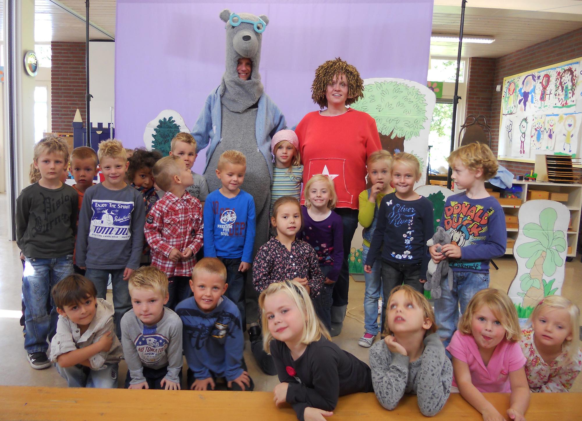 schooloptreden Bamse en het Dikkebillenmonster