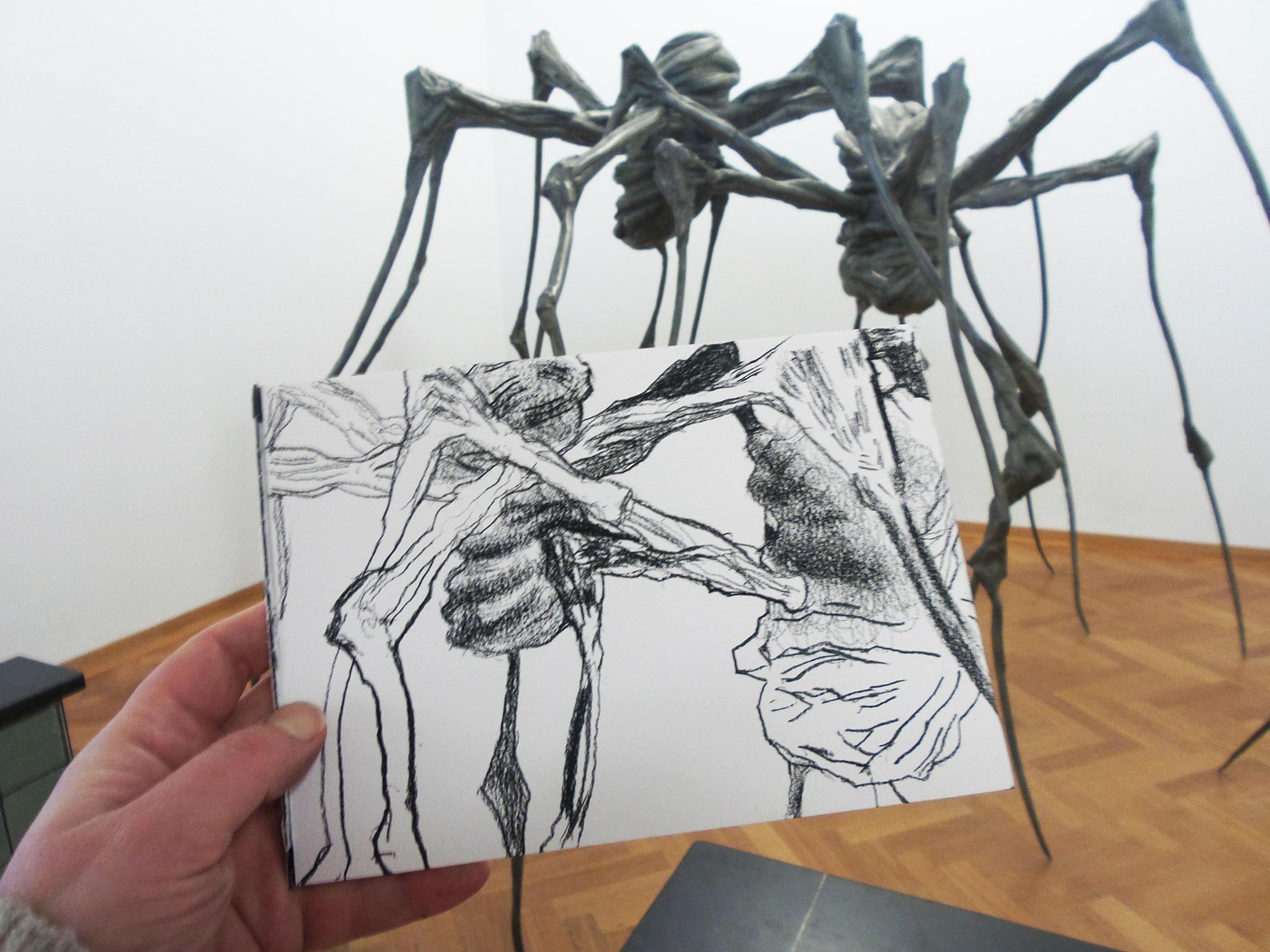 de spin getekend