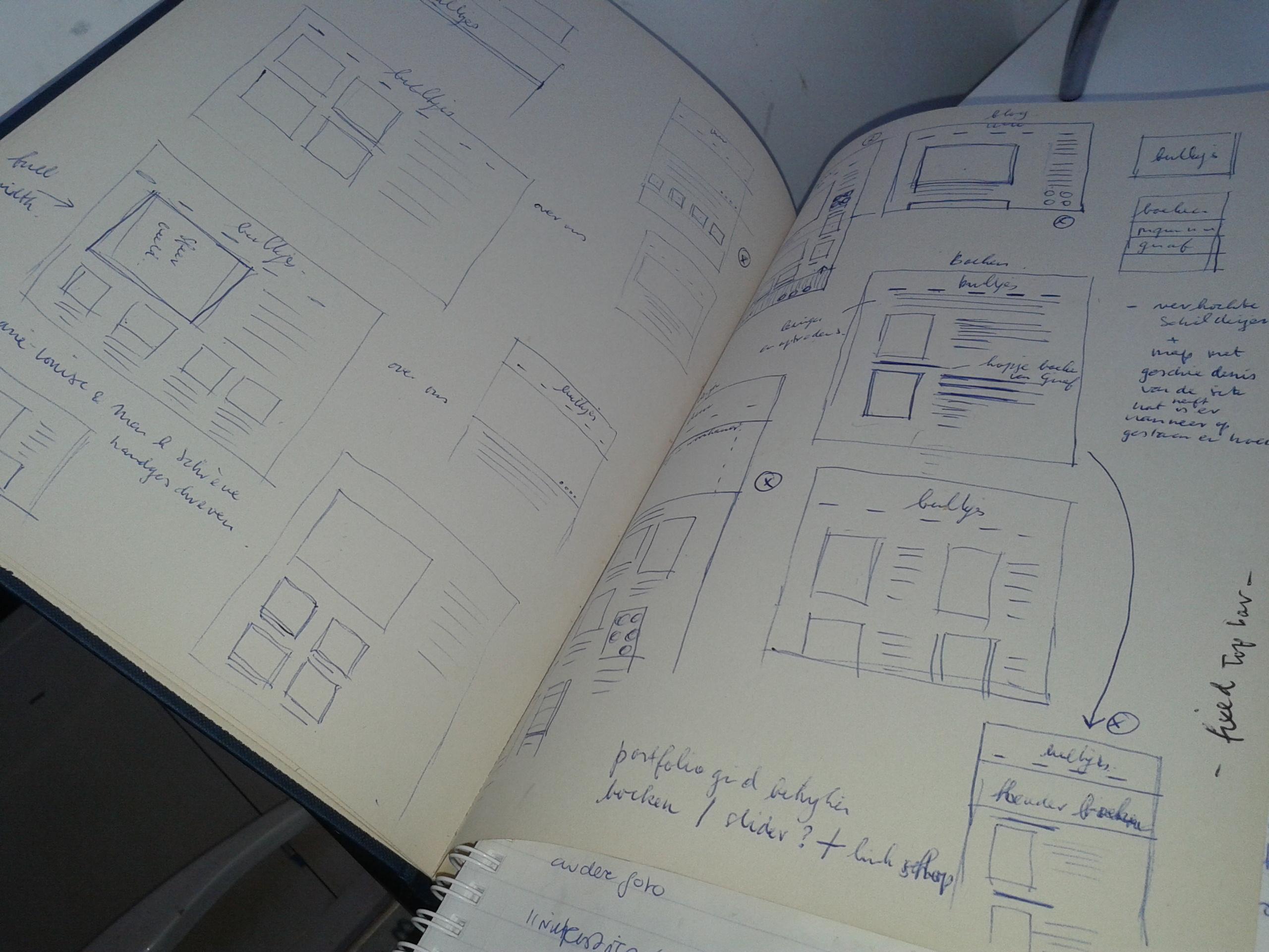 schetsboek sekreve ontwerp website