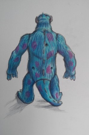 monsters inc sully drawing monsters inc drawing