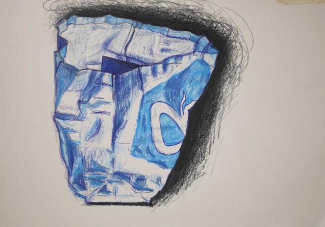 albert heijn tas tekening met kleurpotlood ah shopper shopping bag drawing