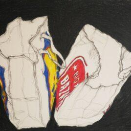 shopping bag drawing kleur tekening shopping bags pencilcolour drawing
