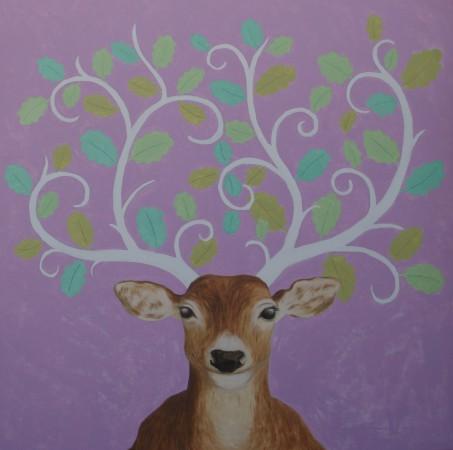 dieren schilderijen, dear o deer,