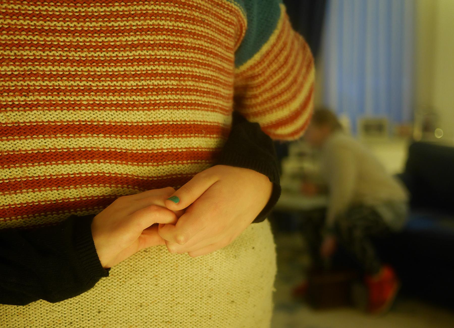 handen om mijn rug