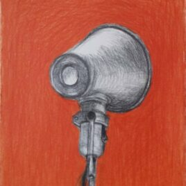 orange lamp, tekening lamp