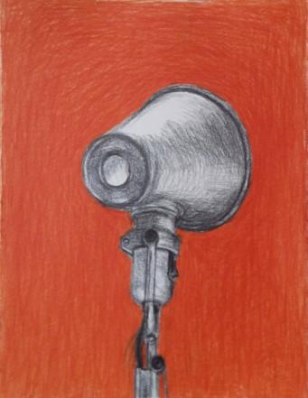 orange lamp, tekening lamp