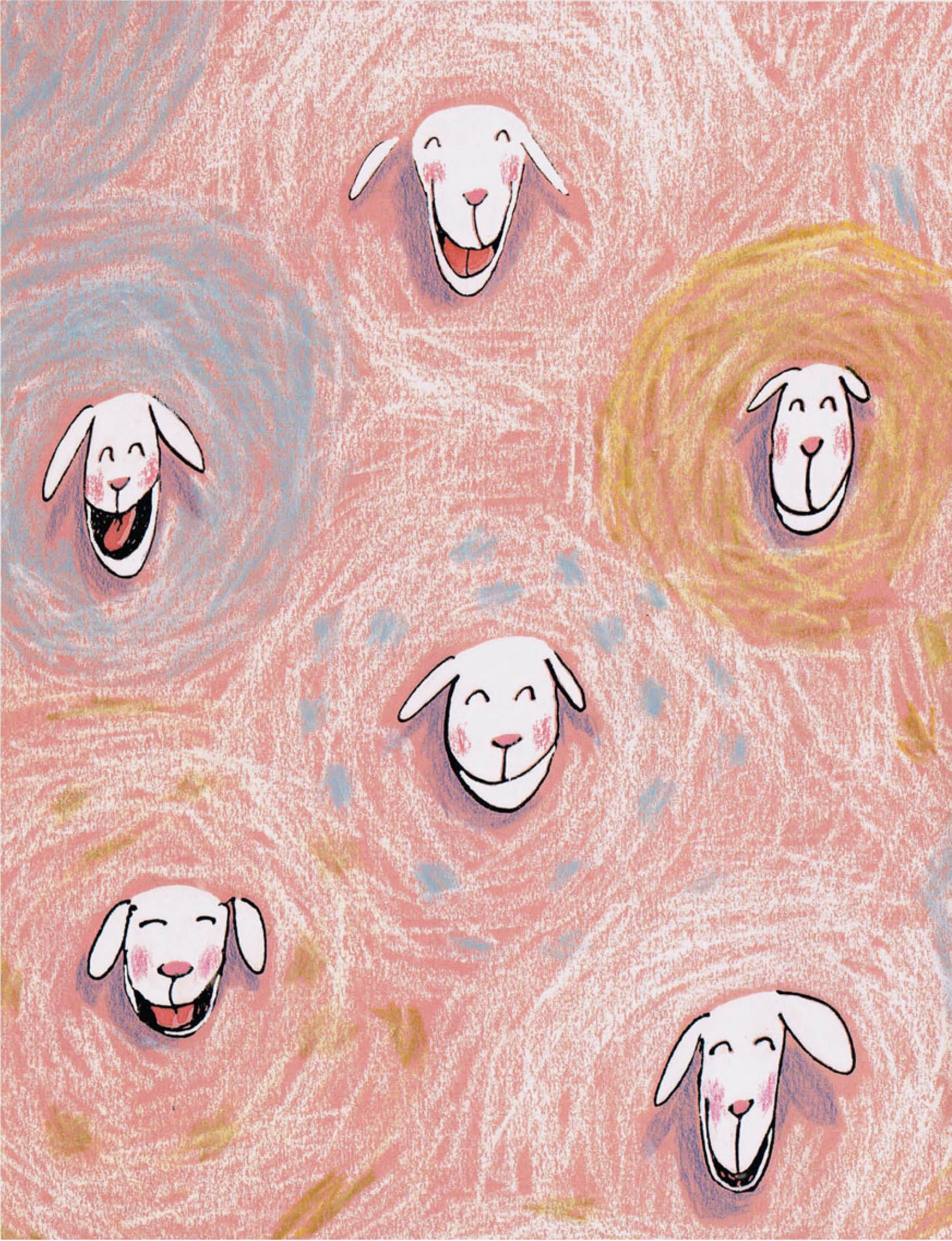 schaapjes met wollen jas, uit het lente prentenboek Thomas wil niet jaloers zijn