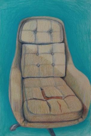vintage chair, tekening stoel