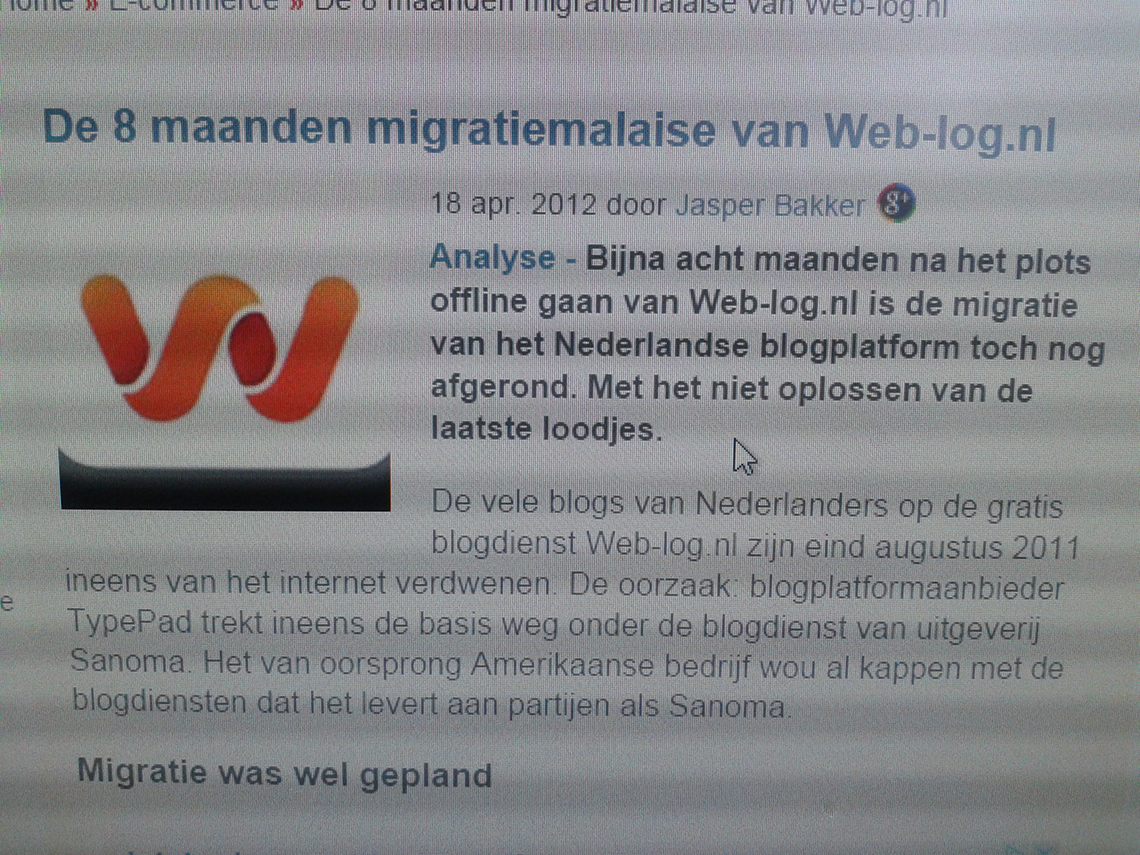 weblogmalaise