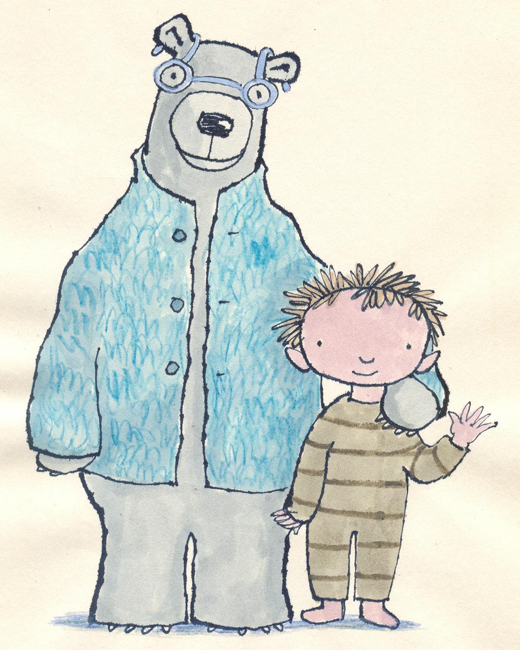 Bamse en zijn vriend Oudebeer samen