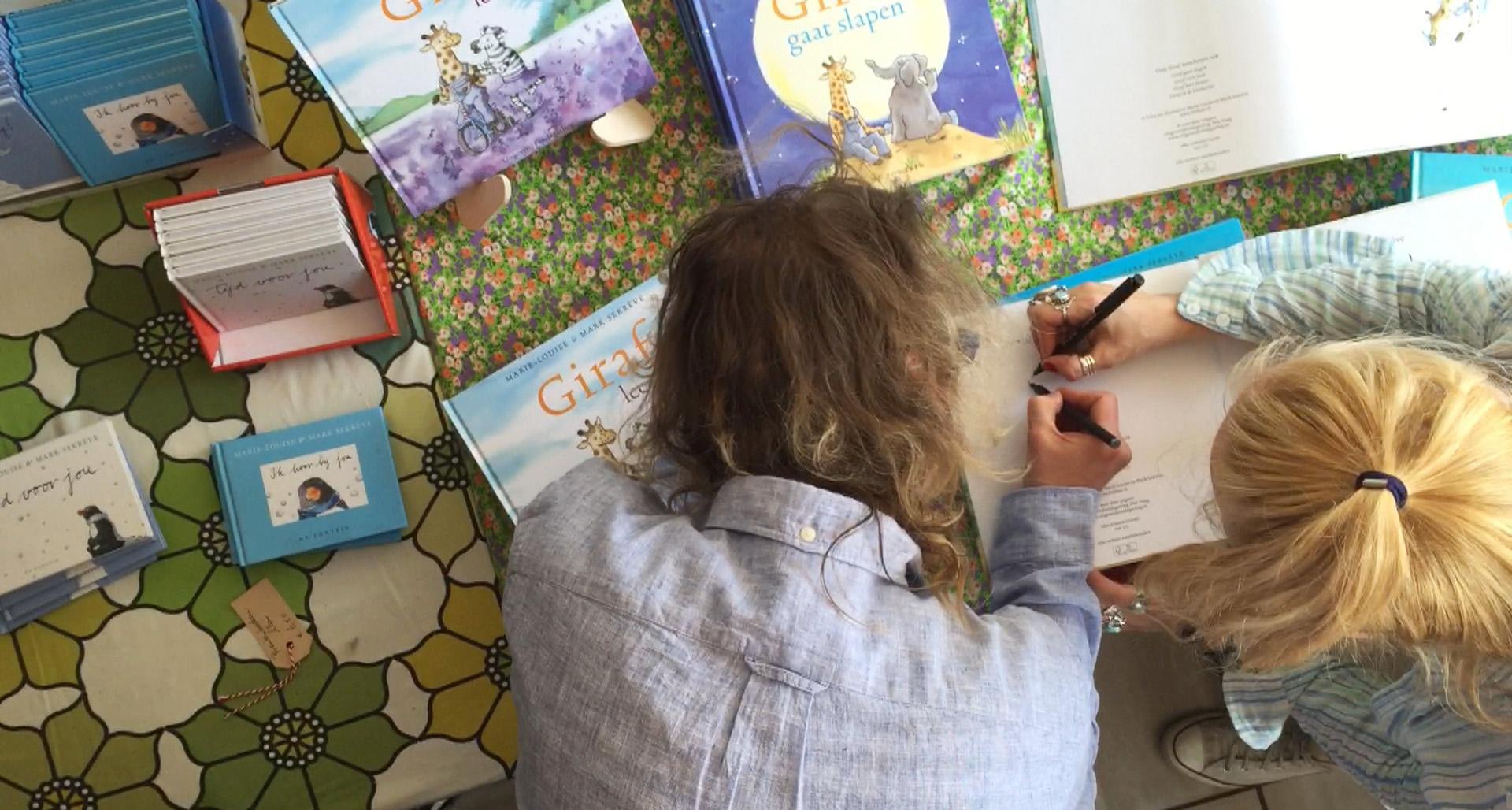 Signeren Giraf schrijft! voor blog