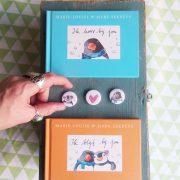 valentijnsdag actie met pinguin max, ik hoor bij jou en speciale valentijns mini-buttons